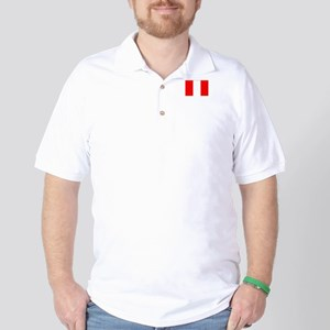 peru flag Golf Shirt