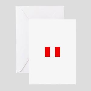 peru flag Greeting Cards (Pk of 10)