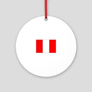 peru flag Ornament (Round)