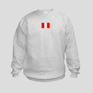 peru flag Kids Sweatshirt