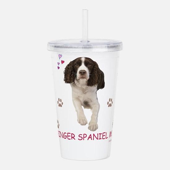 Cute Springer spaniel Acrylic Double-wall Tumbler