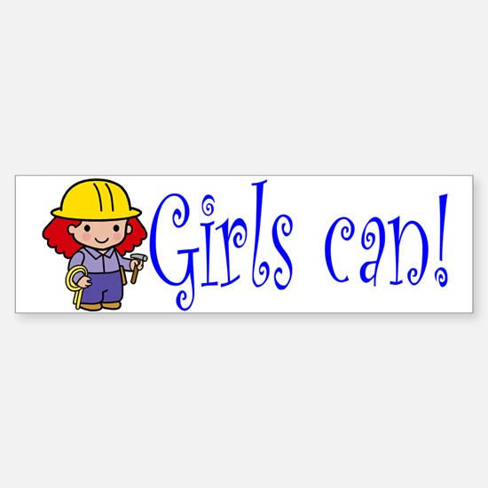 Girl Construction Worker Bumper Bumper Bumper Sticker