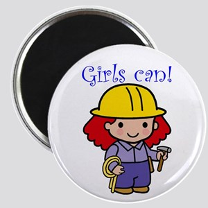 Girl Construction Worker Magnet