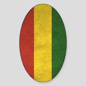 Bolivia Flag Vintage / Distressed Sticker (Oval)