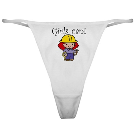 Girl Construction Worker Classic Thong