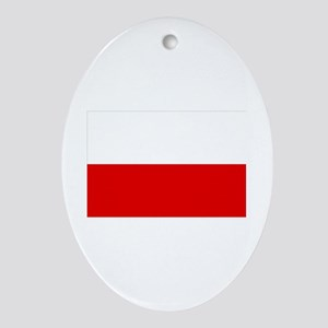 poland flag Oval Ornament