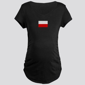 poland flag Maternity Dark T-Shirt