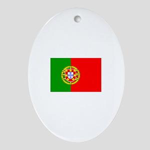 portugal flag Oval Ornament