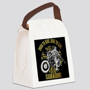 Side Biker Clean & Sober Canvas Lunch Bag