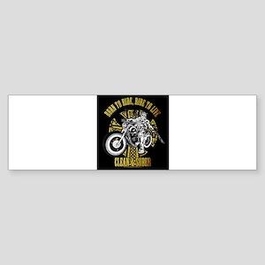 Side Biker Clean & Sober Bumper Sticker
