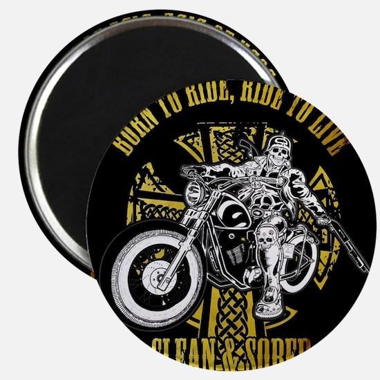 Side Biker Clean & Sober Magnets