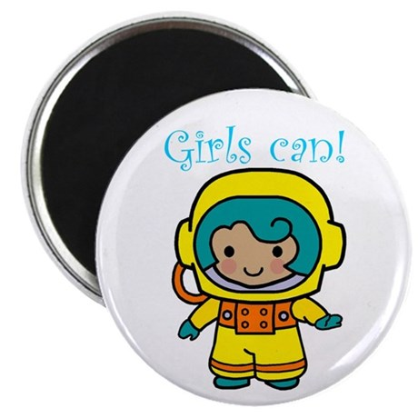 "Girl Astronaut 2.25"" Magnet (10 pack)"