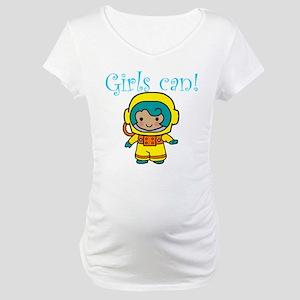 Girl Astronaut Maternity T-Shirt