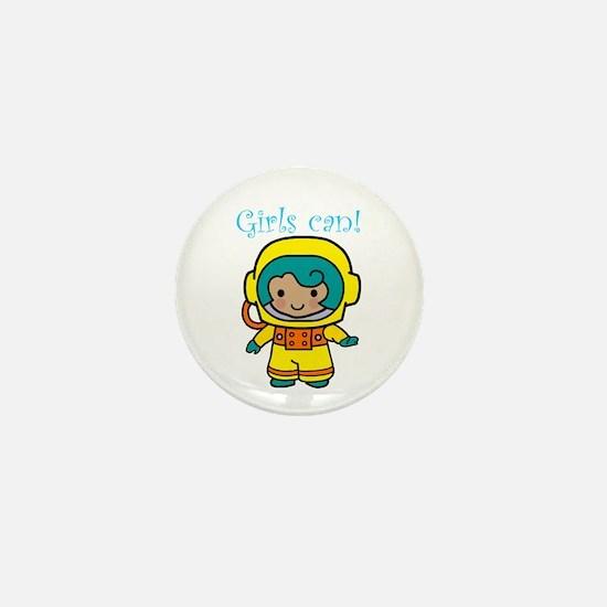 Girl Astronaut Mini Button