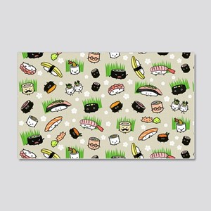 Sushi Characters Pattern 20x12 Wall Decal
