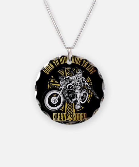 Funny Sobriety Necklace Circle Charm