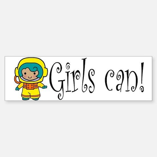 Girl Astronaut Bumper Bumper Bumper Sticker