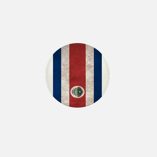 Cute Costa rica flag Mini Button