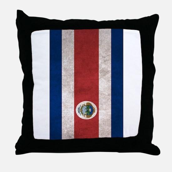 Cute Costa rica flag Throw Pillow