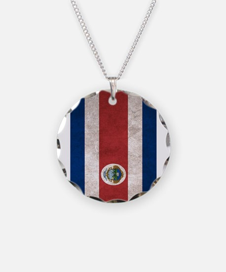 Cute Costa rica flag Necklace