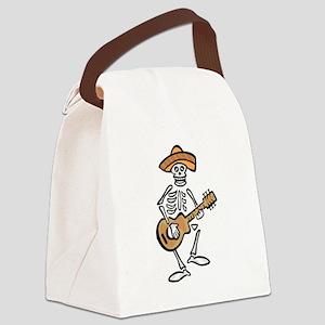 mariachi skeleton Canvas Lunch Bag