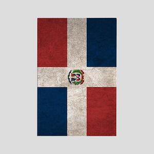 Dominican Republic Flag Vintage / Rectangle Magnet