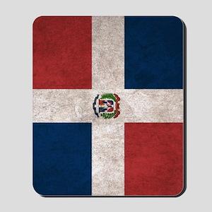 Dominican Republic Flag Vintage / Distre Mousepad