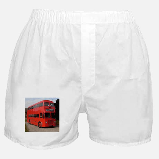Red double decker bus Boxer Shorts