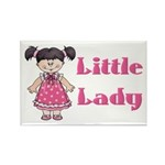 Little Lady Rectangle Magnet