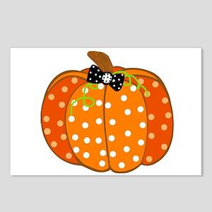Polka Dot Pumpkin Postcards (Package of 8)