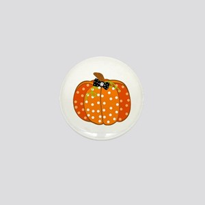 Polka Dot Pumpkin Mini Button