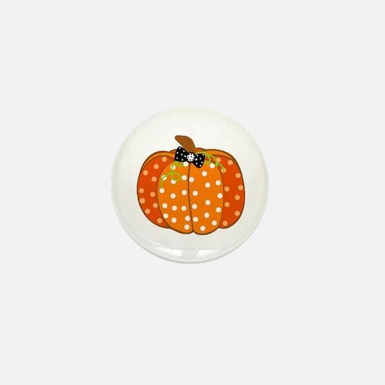 Polka Dot Pumpkin Mini Button