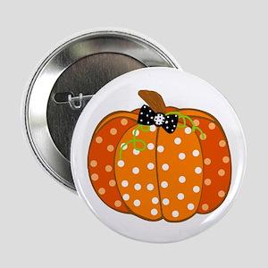 """Polka Dot Pumpkin 2.25"""" Button (10 pack)"""