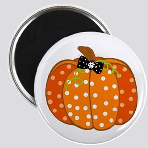 Polka Dot Pumpkin Magnets