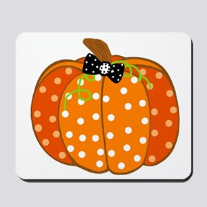 Polka Dot Pumpkin Mousepad
