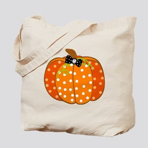 Polka Dot Pumpkin Tote Bag