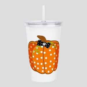 Polka Dot Pumpkin Acrylic Double-wall Tumbler