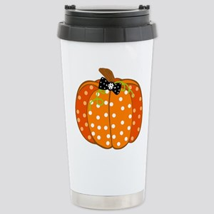 Polka Dot Pumpkin Travel Mug