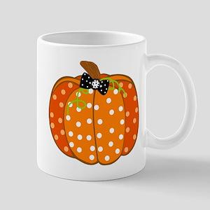 Polka Dot Pumpkin Mugs