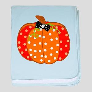 Polka Dot Pumpkin baby blanket
