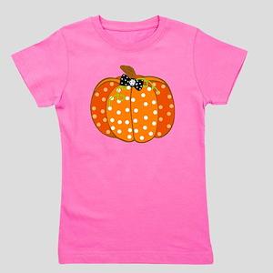 Polka Dot Pumpkin Girl's Tee