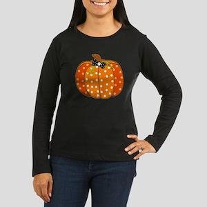 Polka Dot Pumpkin Long Sleeve T-Shirt