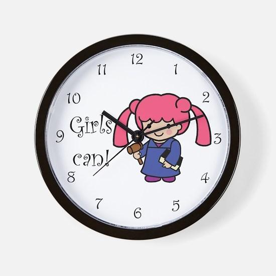 Girl Judge Wall Clock