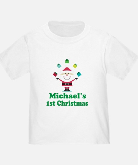 Babys 1st Christmas Personalized T-Shirt