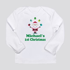Babys 1st Christmas Personalized Long Sleeve T-Shi