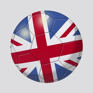 Great Britain Flag Soccer Ball Ornament (Round)