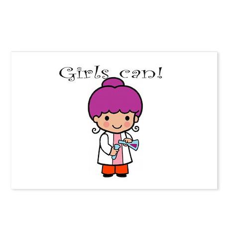 Girl Scientist Postcards (Package of 8)