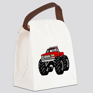 Red MONSTER Truck Canvas Lunch Bag