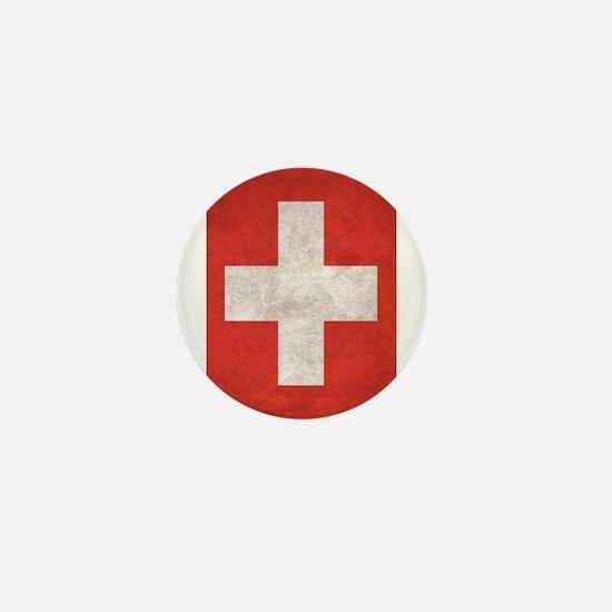Cute Swiss flag Mini Button