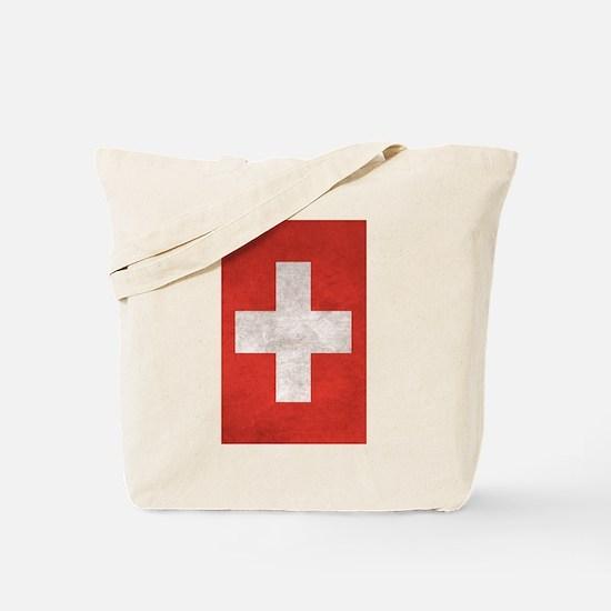 Cute Swiss flag Tote Bag